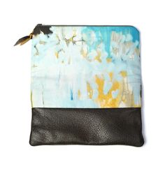 this painterly clutch is sure to draw compliments wherever you go / Saturday Morning Foldover Clutch / megan auman
