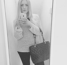 Simple outfit with statement #Chanel perfect for #winter #autumn weather