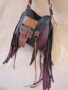Tribal bag asymmetrical hobo, Cross body boho, Leather Fringe Bag, Black Leather, Handmade purse, Ra Black Fringe Bag, Fringe Bags, Leather Fringe, Black Leather, Handmade Purses, Leather Bags Handmade, Hippie Purse, Tribal Bags, Leather Bag Pattern