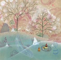"""Frosty Retreat"" by Aaron Piland, Ayumi Piland, Betsy Walton, Jill Bliss, Yellena James : Elemental : Store : Together Gallery"