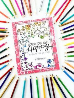 Color Your Own Happy - Coloring & Craft Book by Jen Goode Diy Butterfly Costume, Diy Halloween Treats, Halloween Ideas, Drawn Art, Cricut Tutorials, Cricut Ideas, Flower Coloring Pages, Happy Design, Color Crafts