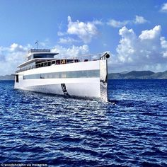 The futuristic super-yacht that Steve Jobs commissioned before his death, the Venus, was spotted over the weekend in the British Virgin Islands, making waves as pictures of the elusive vessel found . Big Yachts, Super Yachts, Luxury Yachts, Sailing Yachts, Steve Jobs, Venus, Luxury Yacht Interior, Philippe Starck, Yacht Design