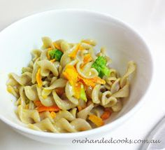 one handed cooks: baby & toddler food: tomato vegetable pasta