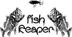 Fish Reaper Skeleton Fishing Decal