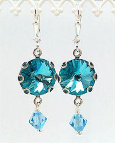 A personal favorite from my Etsy shop https://www.etsy.com/listing/224084234/new-swarovski-light-turquoise-rivoli