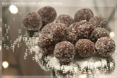 Rum Balls (cake style, baked and made from scratch)