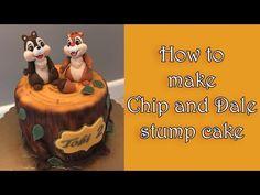 How to make a Chip and Dale stump cake / Jak zrobić tort z Chip i Dale Fondant Tree, Fondant Cake Toppers, How To Make Chips, Nature Cake, Chip And Dale, Fondant Tutorial, Just Cakes, Cake Decorating Tutorials, Cake Creations
