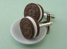Oreo Cookie Cufflinks