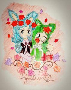 Pisces Aphrodite & Andromeda Shun #neko #bunny #fanart #drawing #fanart #aphrodite #shun #saintseiya #cavaleirosdozodiaco @luamiki