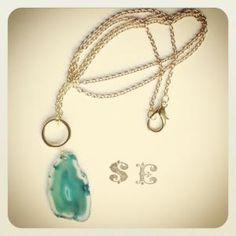 Agate Drop SE Jewelry  www.sashapellow.com My Girl, Agate, Pendant Necklace, Drop, Jewelry, Jewlery, Jewels, Jewerly, Jewelery