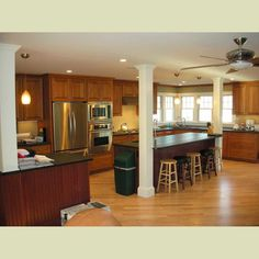pictures of open concept kitchens | ... open-concept-modern-house-plans-design-interesting-open-concept-house