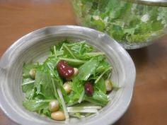 水菜と豆のサラダの作り方   nanapi [ナナピ]