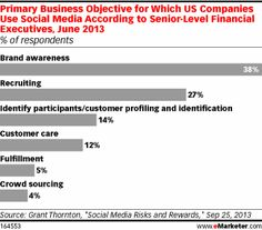 Primary Business Objective for Which US Companies Use Social Media According to Senior-Level Financial Executives, June 2013