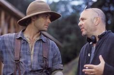 Jude Law and director Anthony Minghella for Cold Mountain