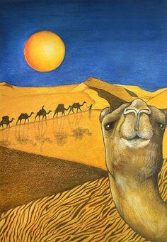 Ship of the Desert Art Print by Robert Lacy Cheshire Cat Smile, 5th Grade Art, Desert Art, Thing 1, Paintings For Sale, Art Paintings, Children's Book Illustration, Illustrations, Livestock