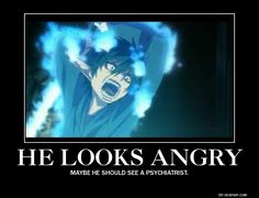 Rin - Ao No Exorcist - Demotivational by yahoolizard on deviantART