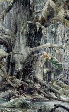 Legolas and Gimli in Fangorn