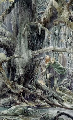 Legolas and Gimli in Fangorn