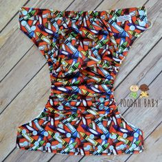 You need this adorable Colorful Crayons Poodah Baby cloth diaper in your stash. This best all-in-two cloth diaper has 11 thirsty layers of absorbency