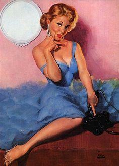 Earl Moran Vintage Pin - Ups (36)