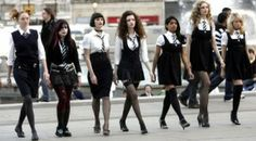 St Trinians naughty schoolgirls in full vamp mode St Trinians, Talulah Riley, Teen Witch, Cherbourg, Sailor Outfits, Daddy Long, Geek Fashion, Fashion Outfits, Stockings And Suspenders
