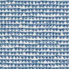 Fabrics & Papers Mendip Fabric A versatile cotton fabric with a toothed horizontal stripe printed in indigo on a natural ground.