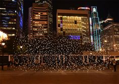 jim campbell suspends scattered light in hong kong