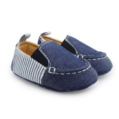 Soft Bottom Denim Style First Walkers Shoes //Price: $14.00 & FREE Shipping //     #KidsClothing