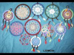 How to crochet dream catcher - YouTube