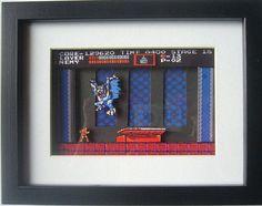 CastleVania NES ~ 3D Diorama Shadow Box $32.32 #3ddiorama #diorama #gifts #giftsforhim #castlevania
