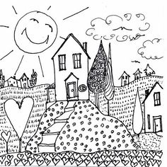 an old heart and house doodle i did years ago.