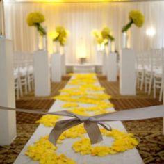 Yellow Wedding Inspiration...and add a little grey ;) pretty yellow aisle