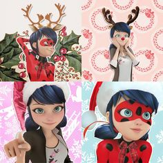 here are some christmas marinette/ladybug icons for you all!  . . (made by catnoir-s on tumblr ❤)
