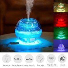 500ml LED Ultrasonic Essential Oil Humidifier Beauty Nails, Hair Beauty, Humidifier Essential Oils, Air Purifier, Body Art Tattoos, Lava Lamp, Aromatherapy, Mists