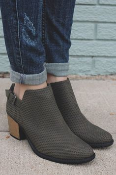 Olive Faux Suede Almond Toe Ankle Booties Tobin-45 – UOIOnline.com: Women's Clothing Boutique