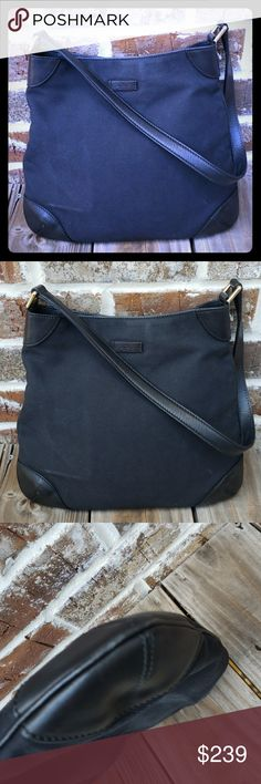 9f04ebb3f612a 100% Authentic Gucci Hobo Bag Vintage Classic Hobo Vintage bag made of  Fabric Canvas