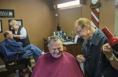 MORTON — In his seventh decade of cutting hair, Jim Fortman isn't just a barber: he's an emcee.