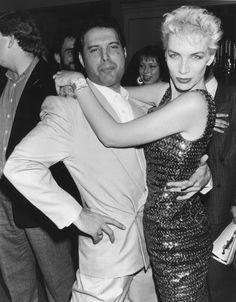 Freddie Mercury & Annie Lennox - how does this pic not explode from all the awesome crammed into it?