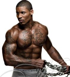 Black men with tattoos