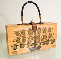 Vintage 60s Enid Collins Money Tree Box Bag Purse by Spiderbot, $95.00