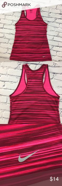 """Nike Dri-Fit Racerback Exercise Tank Pre-owned, excellent condition   🌺Size - X-Small, Regular Fit 🌺Approximate Measurements - flat lay       Chest: 14 1/4""""        Waist: 15""""       Hips 16.5""""       Length: 24.5"""" Nike Tops Tank Tops"""