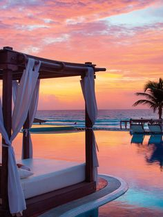 Tequila sunsets are also welcome at Hyatt Zilara Cancun.
