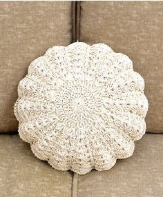 Crochet Pillow Natural