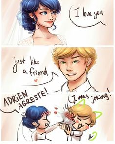 Adrienette's Wedding, Miraculous: Tales Of Ladybug And Cat Noir Miraculous Ladybug Fanfiction, Miraculous Ladybug Movie, Miraculous Ladybug Wallpaper, Adrien X Marinette, Adrian And Marinette, Comics Ladybug, Meraculous Ladybug, Ladybug Cakes, Lady Bug