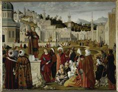 La prédication de Saint Etienne à Jérusalem, 1514. Museo del Louvre, París.