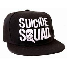 Suicide Squad Baseball Cap Movie Logo DC Comics Black Snapback - Paradiso…