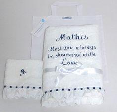 Personalized baby boy towel boy baptism embroidered bath terry towel custom shower gift personalized baby towel boy by virgocottonlinen baby babyshower baptism christening personalizedtowel towellace boybaptism negle Images