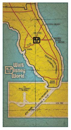 ✈ Vintage map Disney
