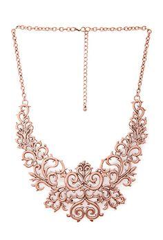 Regal Damask Bib Necklace #steampunk