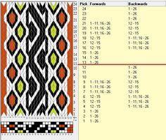 26 tarjetas, 4 colores, repite cada 12 movimientos // sed_1086 diseñado en GTT༺֍